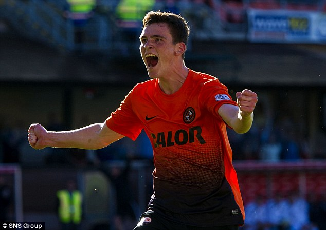 Up for the cup: Dundee United ace Andrew Robertson wants to finish the season in style