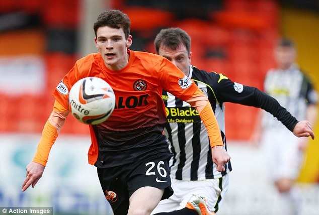 Attracting interest: Everton are leading the chase for United youngster Robertson