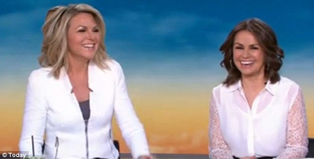 Having a laugh: Georgie enjoyed her fair share of jest as her co-stars delighted in her uncharacteristic slip up