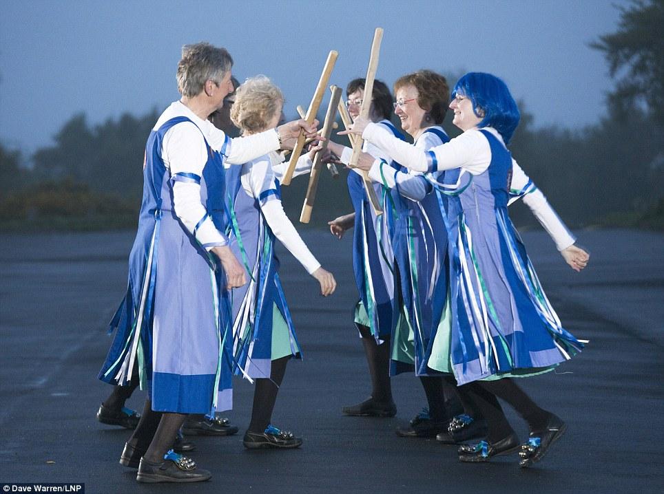 Sticks: Glorishears of Brummagem are women Morris dancers from the Birmingham area. They perform traditional Cotswold Morris dances