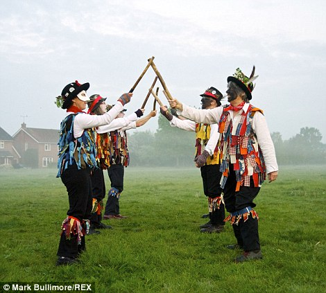 The tradition has passed down through generations in many villages across England