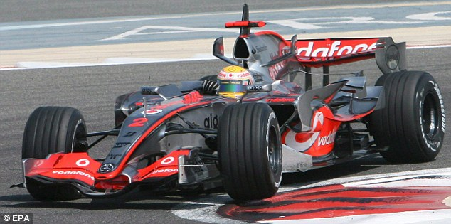 Quick out the blocks: Hamilton has been compared to Senna since bursting on the scene as a championship challenging rookie with McLaren in 2007