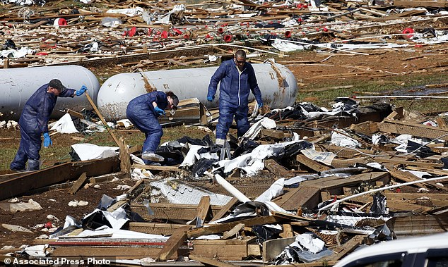 Total loss: The Wilkes said their farm and home were both demolished by the twister
