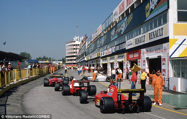 Open for business: The San Marino Grand Prix track is inviting the public to come and explore over the next four days