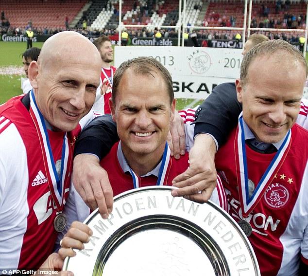 Legends: Jaap Stam, De Boer and Dennis Bergkamp are all greats of the modern game