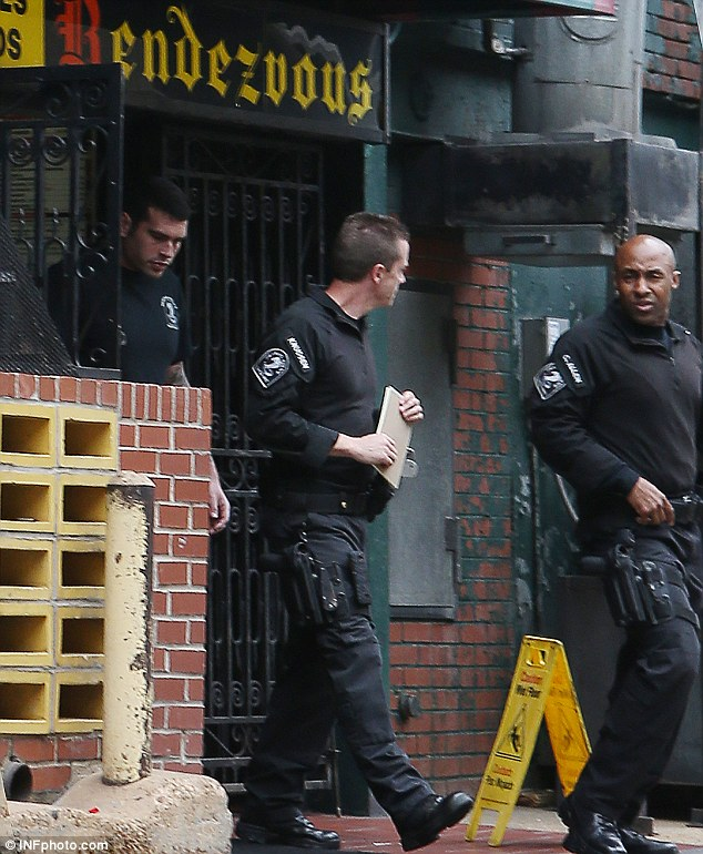 Memphis police were spotted scouting out the Rendezvous restaurant before Princes William and Harry arrived