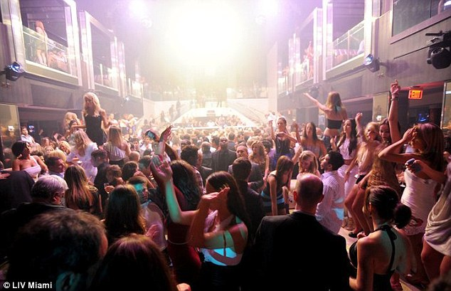 Party scene: Prince Harry and friends were spotted at the LIV nightclub at Fontainebleau Miami Beach on Wednesday night