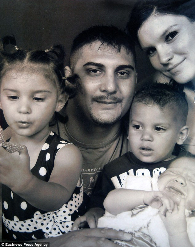 Mason Tipping, front, pictured with his parents Adrian and Christine and his two sisters, Keira and baby Faye. The inquest heard Mason died as a result of a 'horrific, tragic accident'