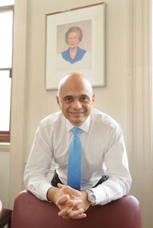 Newly appointed culture secretary Sajid Javid has had his diary filled with nourishing events