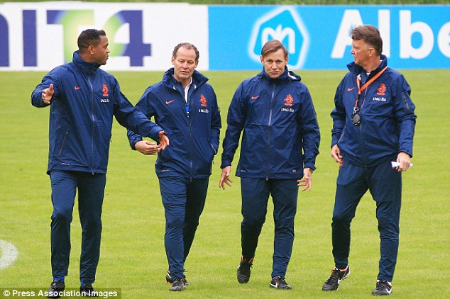 Backroom: Van Gaal may be keen to bring his own men, which could include Patrick Kluivert and Danny Blind