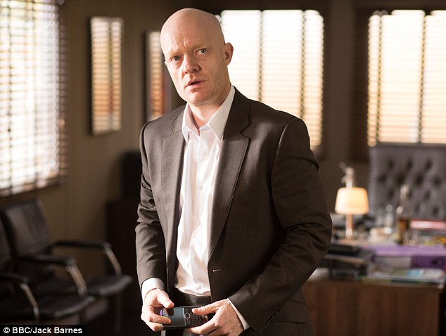 Incriminating: Max Branning discovers CCTV footage that ties him to old flame Lucy Beale on the night of her murder in EastEnders on Friday evening