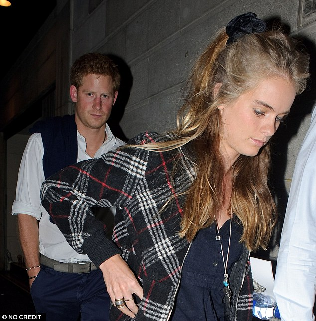 What went wrong? Prince Harry and Cressida Bonas seen leaving the Prince of Wales Theatre in London after attending a performance of 'The Book of Mormon' in October 2013