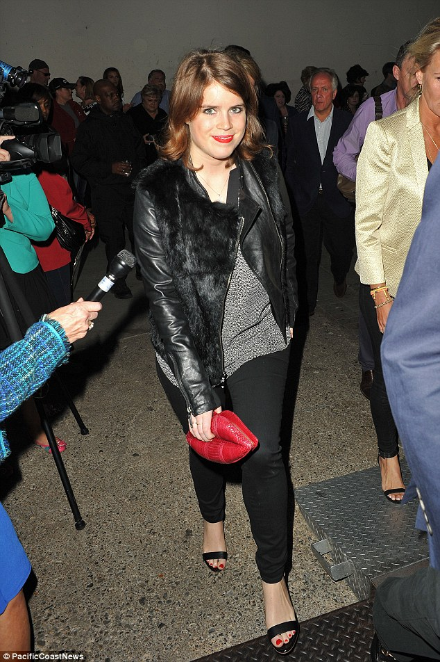 Princess Eugenie, who is also a guest at the wedding, was spotted arriving in Memphis on Thursday evening