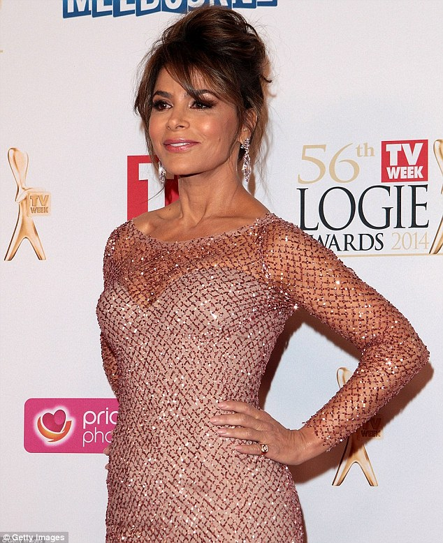Wolrdwide message: American dancer and songstress Paula Abdul was seen wearing the ring at the Logie Awards on Sunday