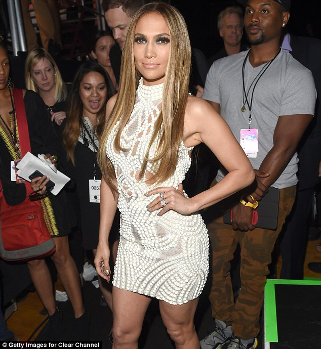 She definitely knows how to showcase her best assets: Jennifer Lopez poses backstage at the iHeartRadio Music Awards in Los Angeles on May 1, 2014