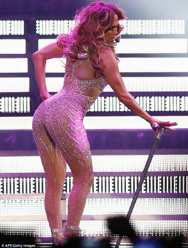 World's first bankable booty: Jennifer Lopez showcases her world-famous booty in Paris during her 2012 world tour
