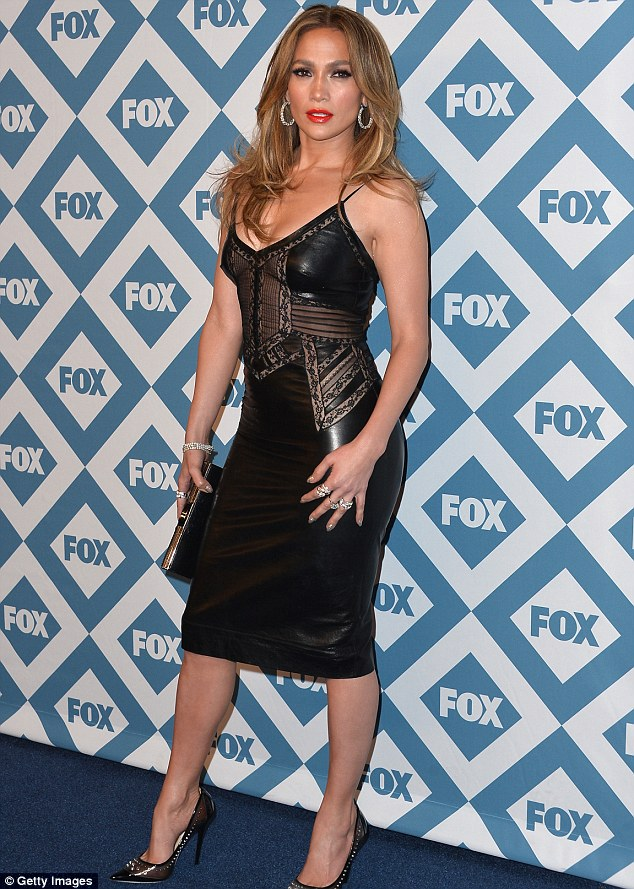 Obviously not a fat day: Jennifer Lopez arrives at the 2014 Fox All-Star Party in Pasadena, California