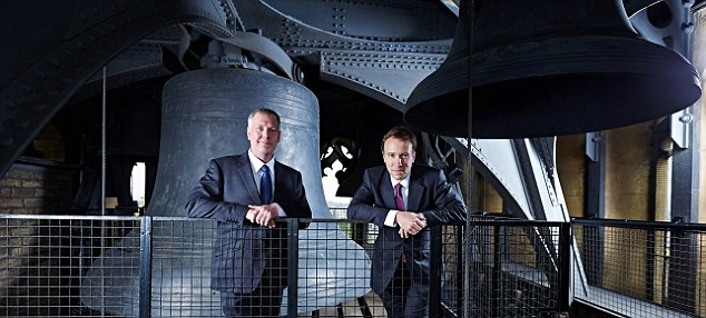 Bell maker: Minister for Skills and Enterprise, Matthew Hancock with Peter Trick from Whitechapel Bell Foundry.