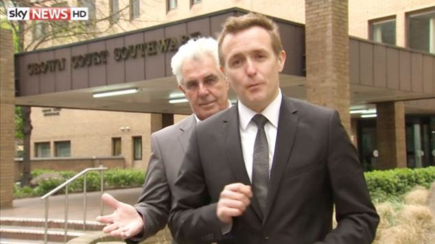 The judge criticised Clifford's 'contemptuous' behaviour during the trial, referring to a strange encounter when he was filmed mimicking Sky News reporter Tom Parmenter as he recorded a piece to camera