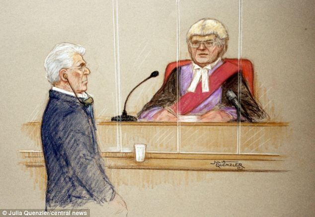 Clifford (pictured in a court artist drawing as he is sentenced)  remained defiant ahead of his sentencing, saying: 'I stand by everything I have said in the last 17 months'