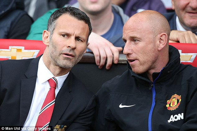Right-hand man: Giggs and Butt swap notes during United's 4-0 win over Norwich last weekend