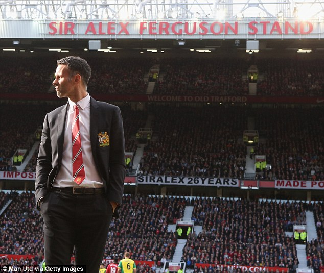 Big shoes: Giggs said he went to old boss Sir alex Ferguson for advice after being appointed as United's interim manager following the sacking of David Moyes
