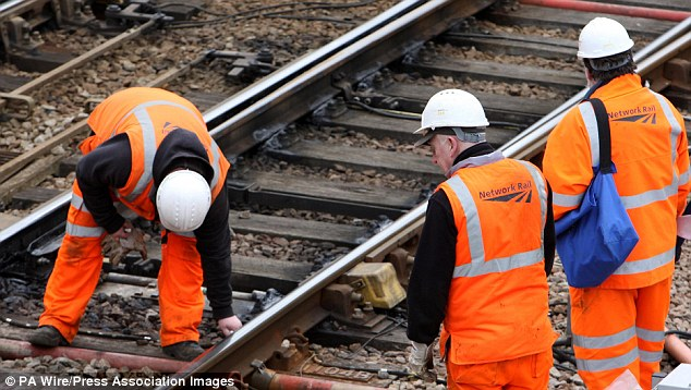 Back on track: Network Rail said the days of excessive pay hikes are over