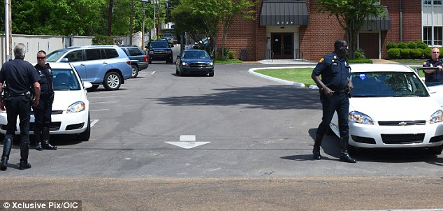Local Memphis police were also on hand to offer added security for the Royal group at Graceland