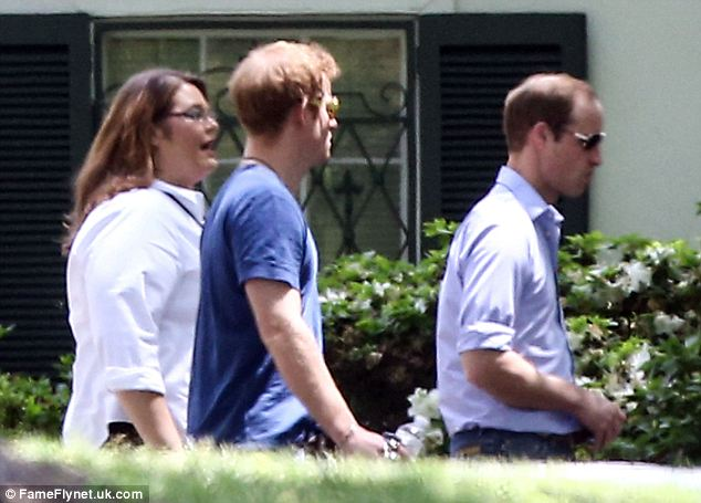 Lucky: While the general public was barred from the home during the royal visit, there is no doubt the tour guides of Graceland were feeling elated to come in contact with the royals