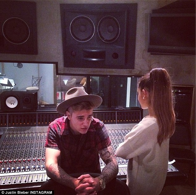 Collaboration: Ryan Seacrest announced via his Twitter on Friday that Justin and Ariana Grande, 20 are working on a duet