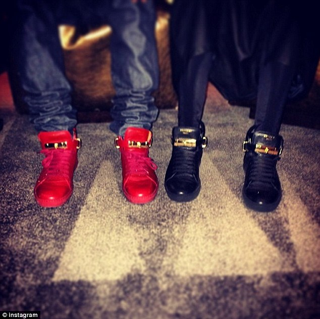 Fancy footwear: Justin Bieber took to Instagram to show of his favourite shoes of the moment, a pair of Buscemi high-top sneakers