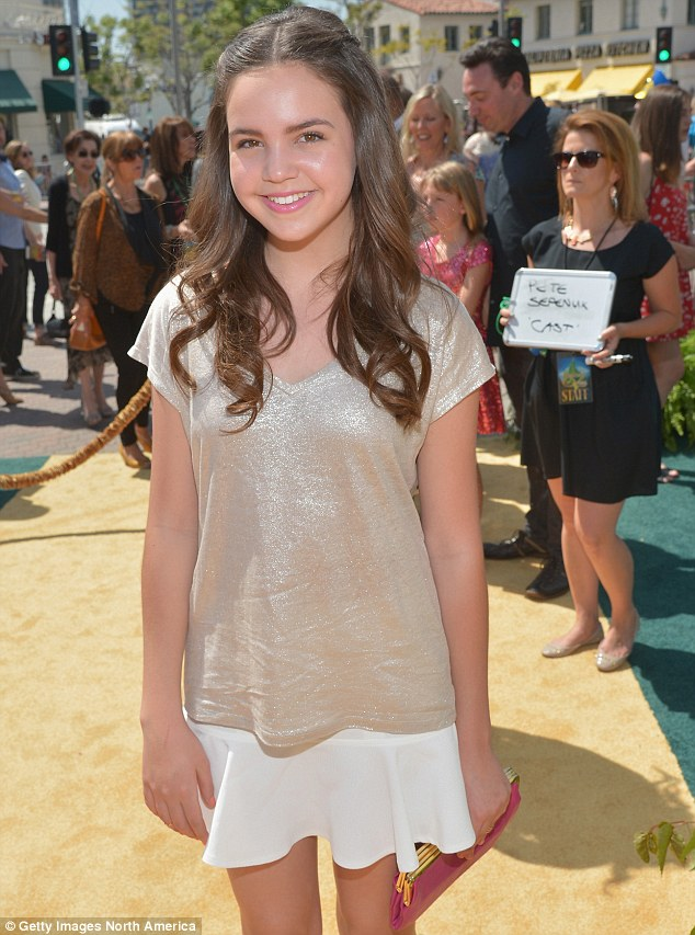 Sparkling: Bailee Madison was at the premiere too, wearing a shimmering champagne blouse and white skirt