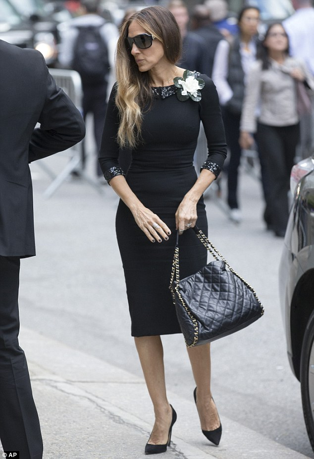 Friend and fan: Sarah Jessica Parker spoke at the memorial for her friend, designer L'Wren Scott