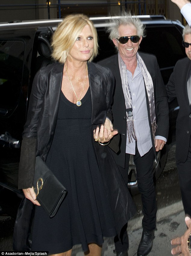 Celebration of life: Rolling Stone Keith Richards with his wife Patti Hansen