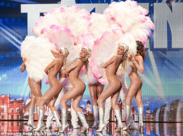 Inappropriate: These dancers in 'nude' outfits will appear on Britain's Got Talent tonight before the watershed