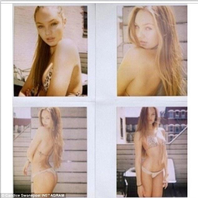 Feeling nostalgic? Candice Swanepoel posted four flashback shots on Friday of her once big waist length hair