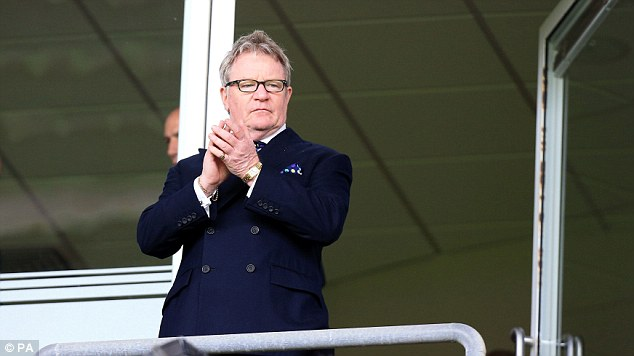 Famous face: Comedian Jim Davidson in the directors box during the at Bloomfield Road