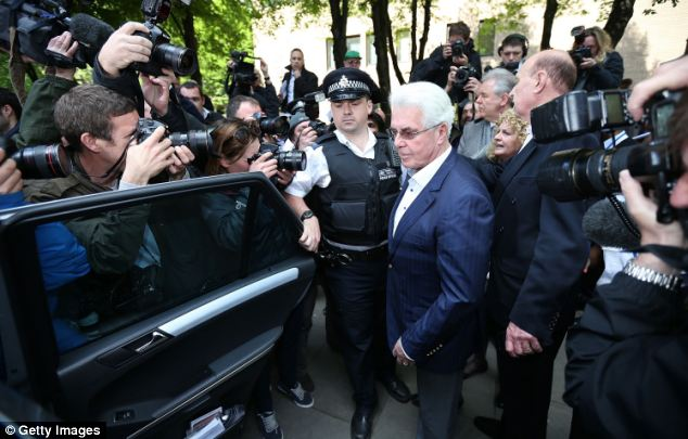 Surrounded: Sharon said coming face-to-face with the publicist in court evoked not hatred, but pity