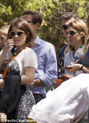 Princesses Beatrice and Eugenie also joined the wedding party to otur the Graceland mansion