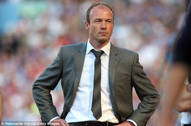 Bad experience: Alan Shearer lasted just nine games in charge of Newcastle as they were relegated from the Premier LEague in 2009