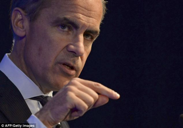 Staying power: Governor Mark Carney last week said he is still 'comfortable' with rates at a record low of 0.5 per cent