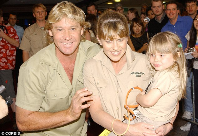 In the spotlight: Bindi grew up in front of the world with her Crocodile Hunter father Steve Irwin and mum Terri