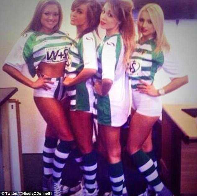 Viva Forever: the group are the first ever football league girlband, regularly performing on the Yeovil town pitch