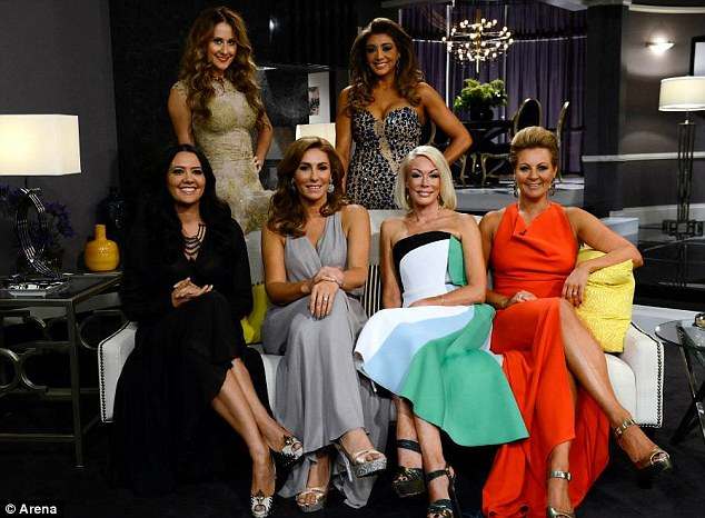 Colourful cast: The Real Housewives Of Melbourne (L - R) Lydia Schiavello, Jackie Gillies, Andrea Moss, Gina Liano, Janet Roach and Chyka Keebaugh