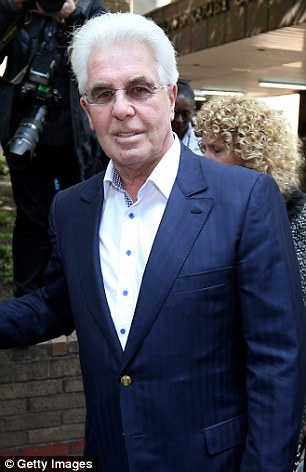 Shamed: Max Clifford, pictured after being convicted of eight indecent assaults, allegedly carried around a book of celebrity sleaze