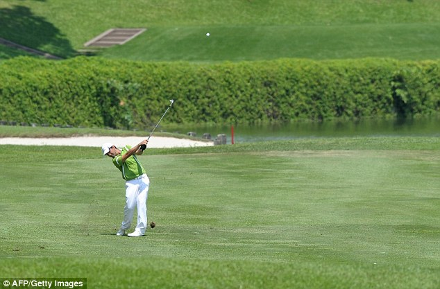 Comeback kid: The Chilean was four shots behind going into the final round