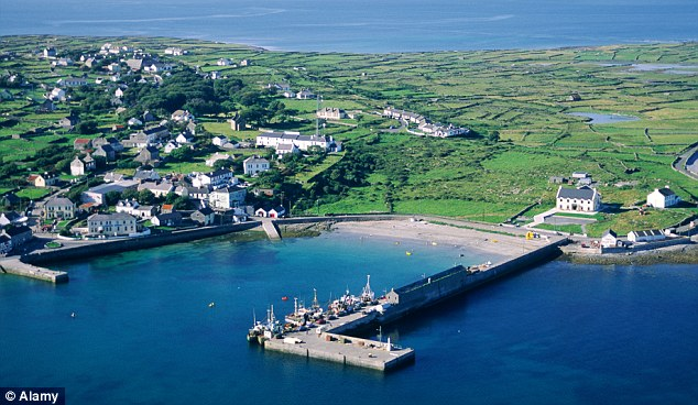 Breakthrough: Scientists believe a network of underground 'rivers' up to 30 miles long are flowing under Galway Bay, creating a well on Inishmore island (pictured) which provides limitless fresh water
