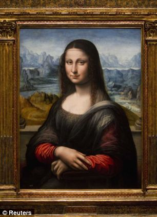 Leonardo da Vinci could have pioneered the world's first 3D image by painting two similar portraits of the Mona Lisa, it has been claimed. Above, the 'Prado Mona Lisa' in Madrid