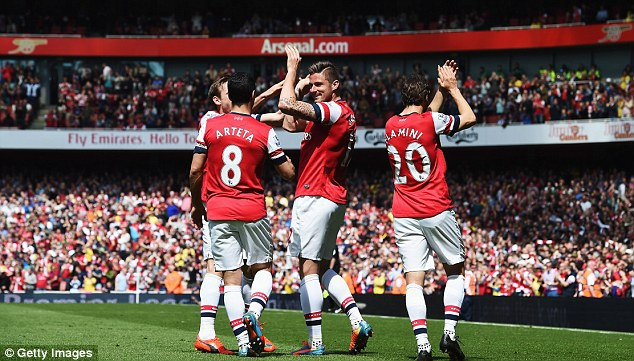 To Wembley: It is the last time Arsenal will play in London until the FA Cup final in two weeks