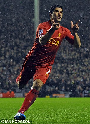 Red hot! Luis Suarez